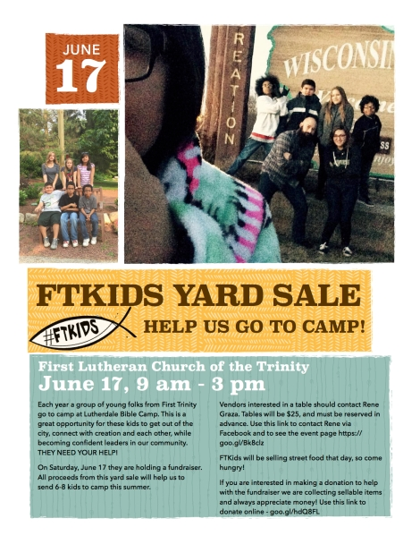 ftkids yard sale 6.17.17